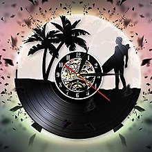 TIANZly Summer Time Surfing Vinyl Record Wall