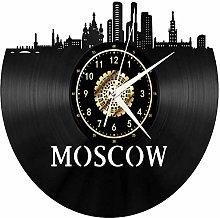 TIANZly Vinyl Moscow Vinyl Record Wall Clock Fan