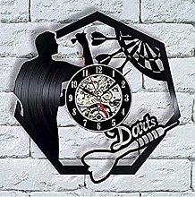 TIANZly Vinyl Record Wall Clock Darts Vinyl Record
