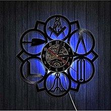 TIANZly Vinyl Wall Clocks Masonic Freemason Logo