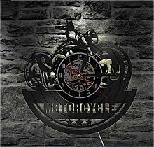 TIANZly VinylWall clock classic motorcycle wall