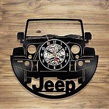 TIANZly Wall Clock Decoration Wall Clocks Jeep Car