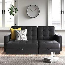 Tiara 3 Seater Fold Out Sofa Bed Zipcode Design