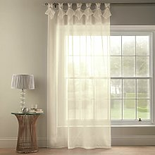 Tiara Dolly Diamante Tab Top Curtain Panel (Cream,