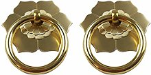 Tiazza 2Pcs Antique Brass Ring Pulls Handle