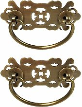 Tiazza 2Pcs Antique Brass Vintage Style Pulls