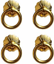 Tiazza 4Pcs Antique Brass Ring Pulls Handle