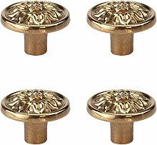 Tiazza 4Pcs Mid-Century Modern Style Solid Copper