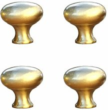 Tiazza 4Pcs Solid Brass Small Knobs Antique