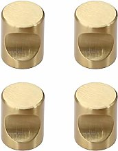 Tiazza 4Pcs Solid Brass Small Knobs Nordic