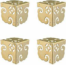 Tiazza 4Pcs Vintage Pure Brass Corner Protectors