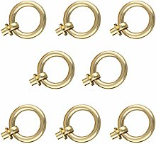 Tiazza 8Pcs Antique Brass Ring Pull Handle Kitchen