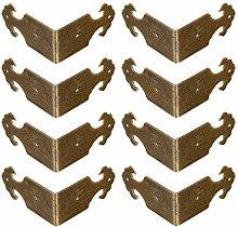 Tiazza 8Pcs Right Angle Brass Box Corner Protector