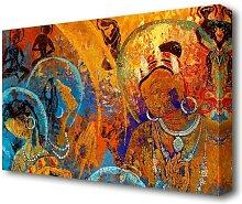 Tibetan Buddhist Ethnic Canvas Print Wall Art East