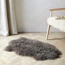 Tibetan Sheepskin Rug, Cocoa, Single