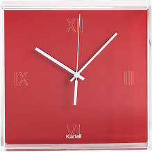 Tic & Tac Wall clock by Kartell Orangy red