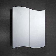 Tide 2-Door Mirrored Bathroom Cabinet 600mm Wide -