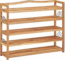 Tidyard 5-Tier Shoe Rack Wooden Shoe Storage Bench