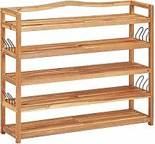 Tidyard 5-Tier Shoe Rack Wooden Shoe Storage Bench