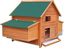 Tidyard Chicken Coop Chicken House with 2 Nest