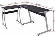 Tidyard Corner Desk L-Shaped Black 152 x 117 x 74