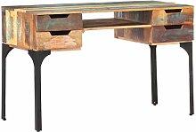 Tidyard Desk 118x48x75 cm Solid Reclaimed Wood