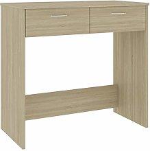 Tidyard Desk Sonoma Oak/Office Desk with Drawers