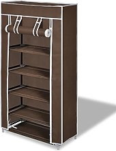Tidyard Fabric Shoe Cabinet with Cover 8-Tier
