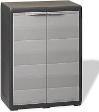 Tidyard Garden Storage Cabinet with 1 Shelf 2 Door