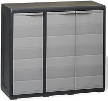 Tidyard Garden Storage Cabinet with 2 Shelves Tool