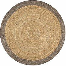 Tidyard Handmade Braided Jute round Natural Fiber
