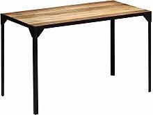Tidyard Rectangular Dining Table Metal Tube Frame