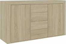 Tidyard Sideboard, Side Cabinet with Drawers, Low