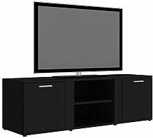 Tidyard TV Cabinet High Gloss Black/TV Cabinet for