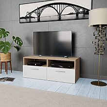 Tidyard TV Cabinet TV Stand Unit with 2 Storage