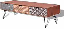 Tidyard TV Unit Cabinet with 3 Drawers for Living