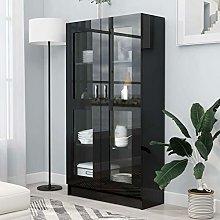 Tidyard Vitrine Cabinet Book Cabinet with Door,