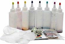 Tie-dye DIY Kit with Rubber Bands Gloves,Safe
