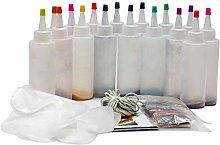 Tie-dye DIY Kit with Rubber Bands Gloves, Safe