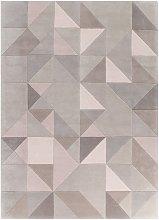 Tielles Neutral Rug - 170 x 240 cm / Grey / Wool