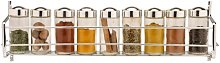 Tier Chrome 9-Jar Wall-Mounted/Cabinet Spice Rack