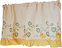 Tiers Curtain Embroidery,Kitchen Half Curtain,Cafe