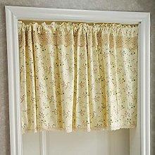 Tiers Curtain,Kitchen Half Curtain Print