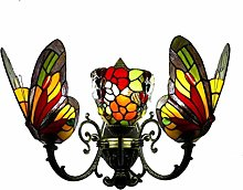 Tiffany Art Wall Light Sconces 2 Light Stained