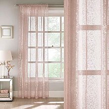 Tiffany Blush Voile Panel, All Over Glittery