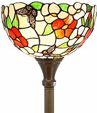 Tiffany Floor Lamp Torchiere Up Light W12H66 Inch