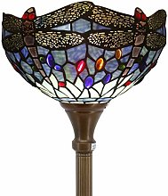 Tiffany Floor Lamp Torchiere Up Lighting W12H66