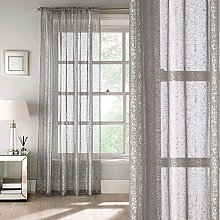 Tiffany Grey Voile Panel, All Over Glittery