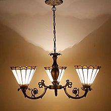 Tiffany Hanging Lamp Chandelier 3 Lights Branch