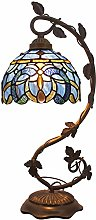 Tiffany Lamp Bedside Lamp Cloudy Stained Glass